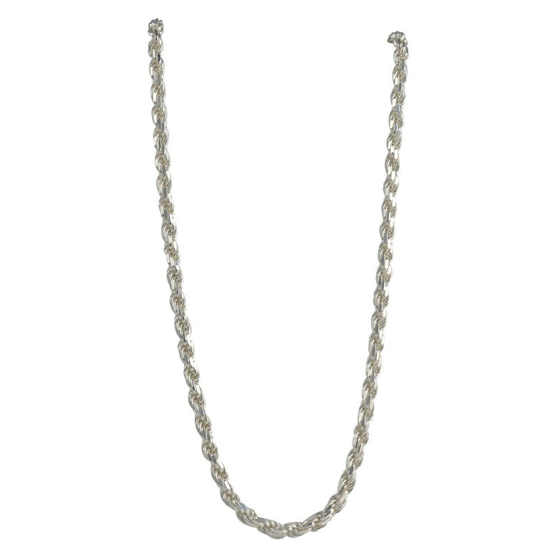 Sterling Silver Diamond Cut Rope 120 6mm Necklace Chain Italian Italy Solid .925