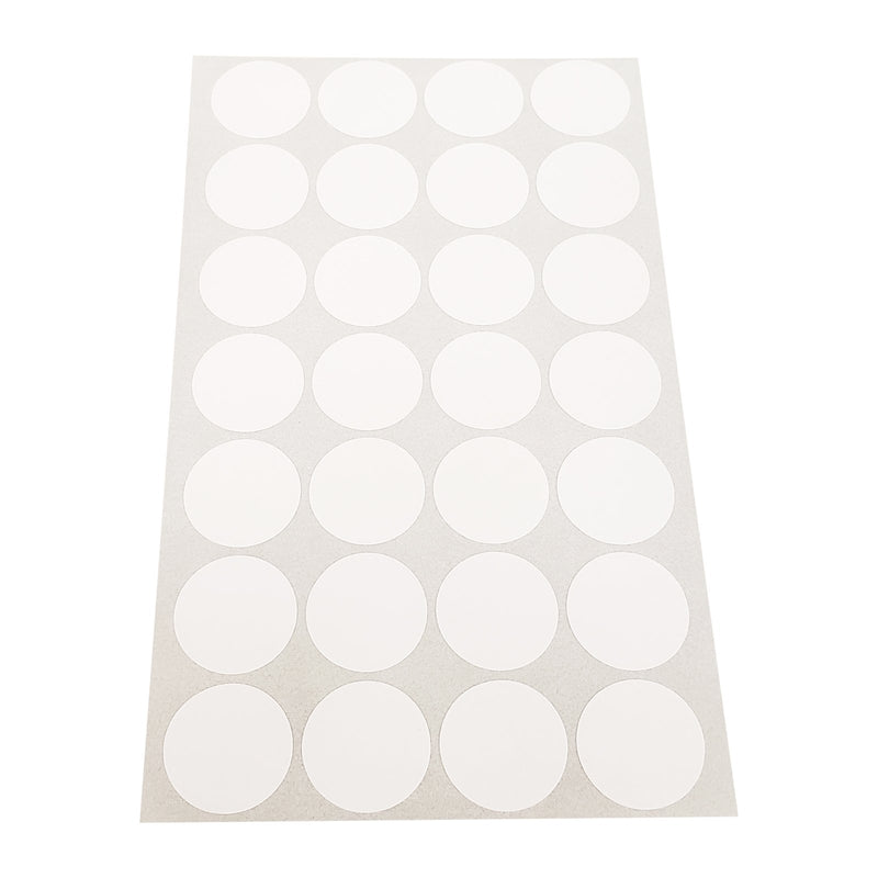 "1008pc Pack Self Adhesive Large Round Plain Label White Tags 3/4"" H"