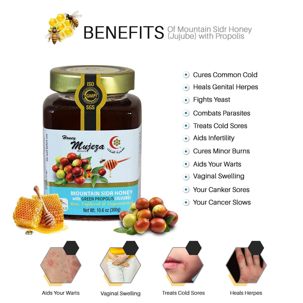 Mountain Sidr Honey (Jujube) with Propolis