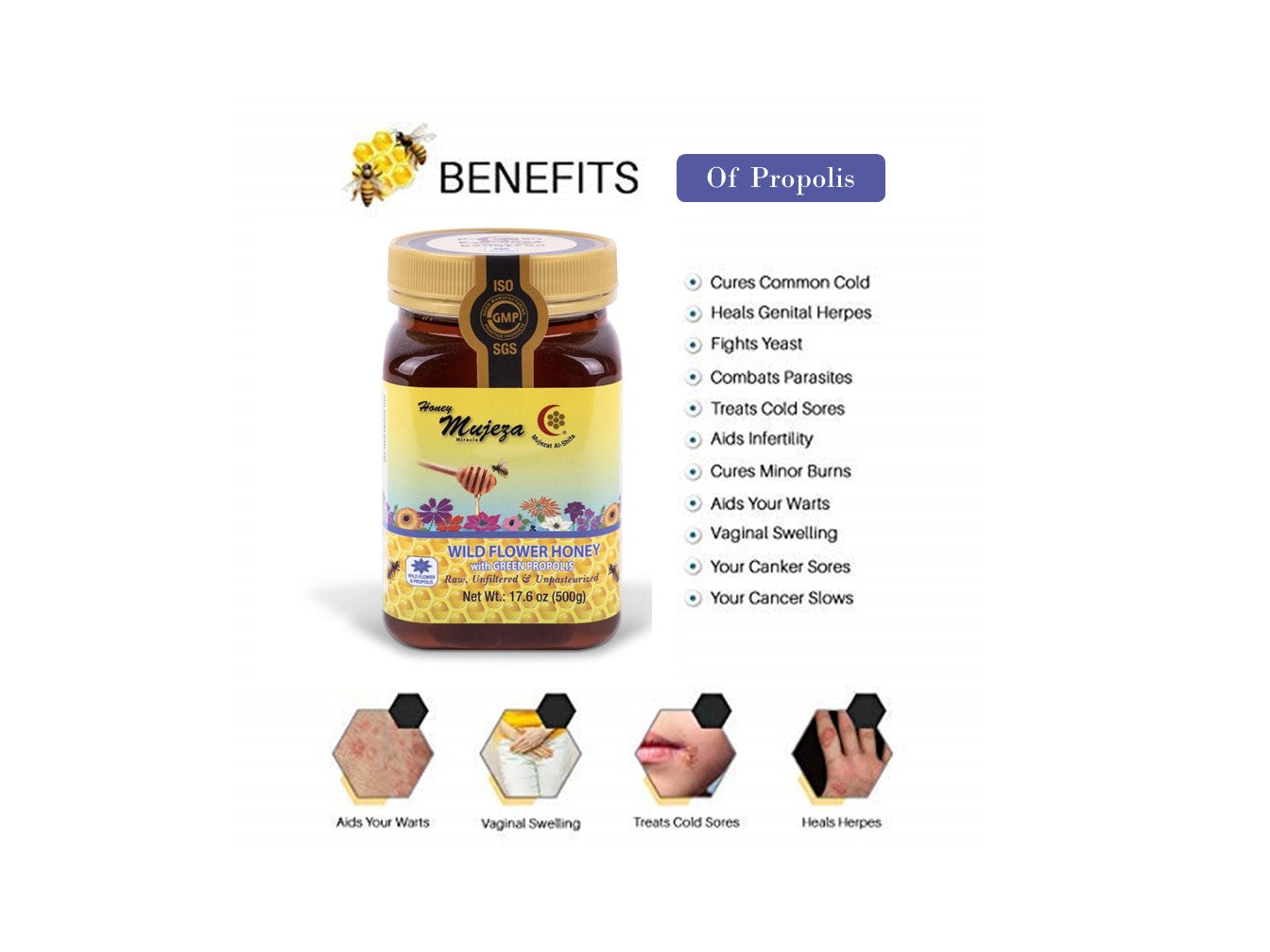 Wildflower with Propolis Honey