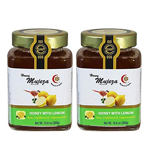 2 lemon Unheated - Raw - Unfiltered - Non GMO- Gluten Free and Unpasteurized Glass Jar (Bottle Container)