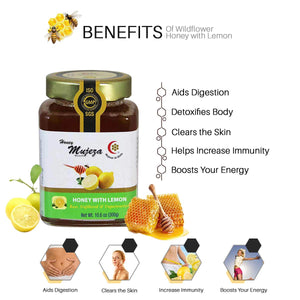 (PACK OF 4) 1 Jar Ginger + 1 Jar Black seed + 1 Jar Cinnamon Turmeric + 1 Jar Lemon 300g/10.6oz Unheated - Raw - Unfiltered - Non GMO- Gluten Free and Unpasteurized Glass Jar (Bottle Container)