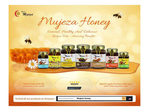 Mujeza Authentic Mountain Sidr Honey (Jujube) with Propolis عسل سدر جبلي أصلي مع صمغ النحل (العكبرEqual to Manuka Effectiveness,100% Natural Gluten Free Non Gmo Raw Honey (Different Sizes Available) (500g /17.6oz) - Mujeza Al Shifa