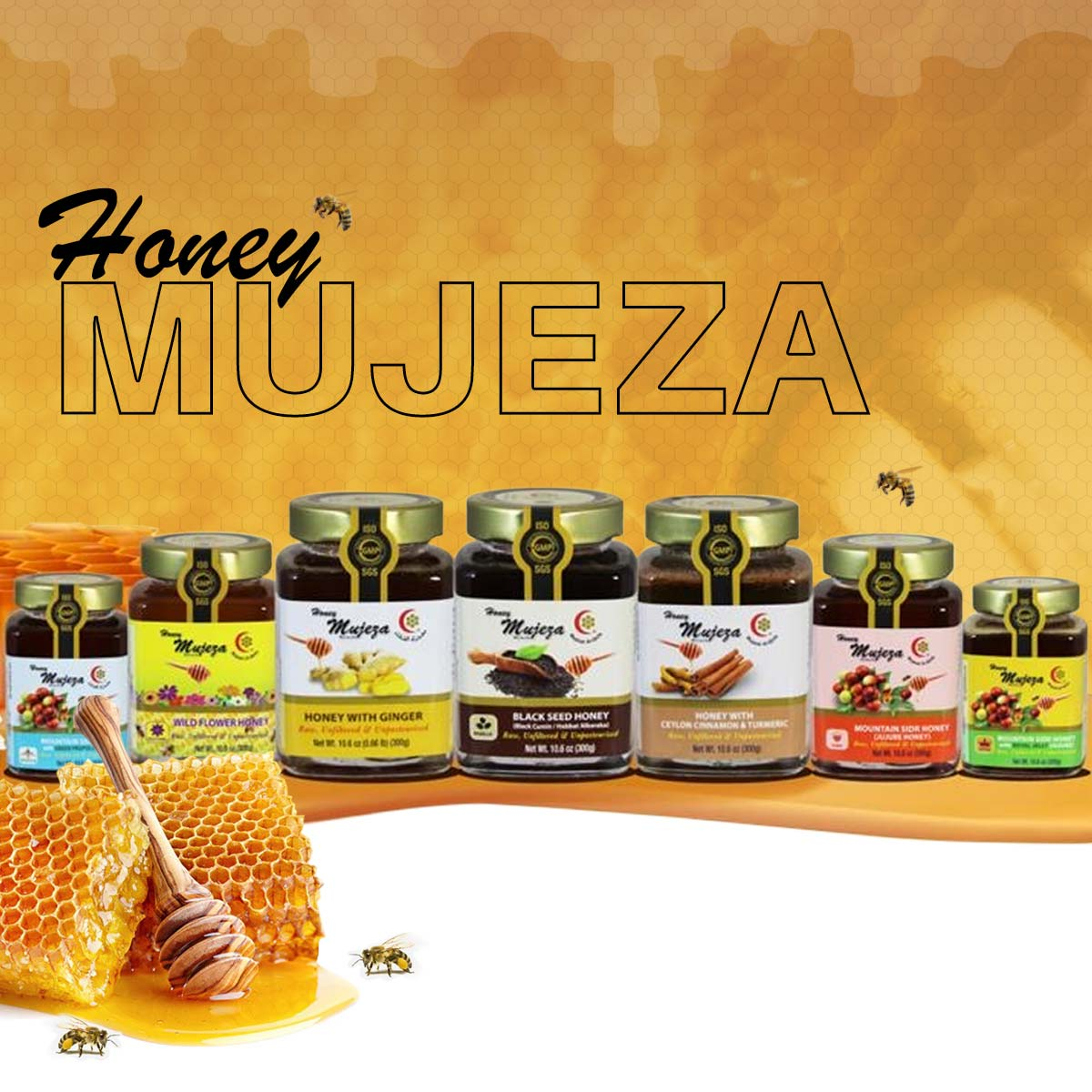 Mountain Sidr Honey with Ginseng