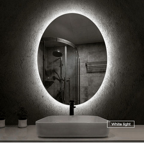 Oval LED Makeup Mirror