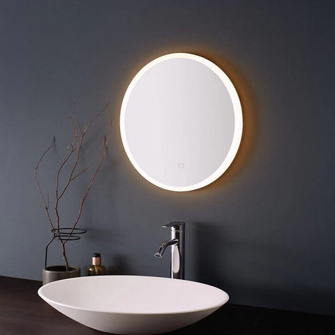 Oval Smart Led Lighted Mirror With Bluetooth