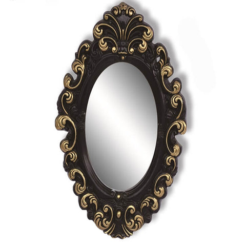 Oval Antique Wall Mounted Mirror