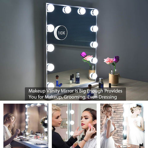 Adjustable Brightness Standing and Wall Mounted Mirror