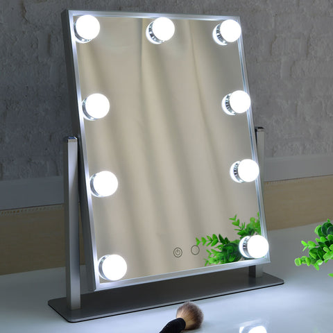 Aluminum Frame Hollywood Vanity Mirror with 9 Bulbs