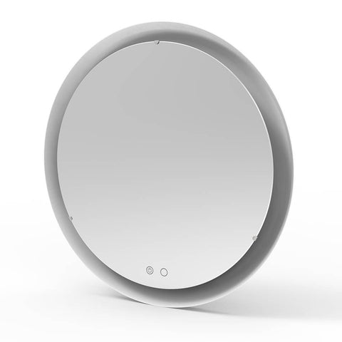 Fuel Injection Round Mirror with LED Lights