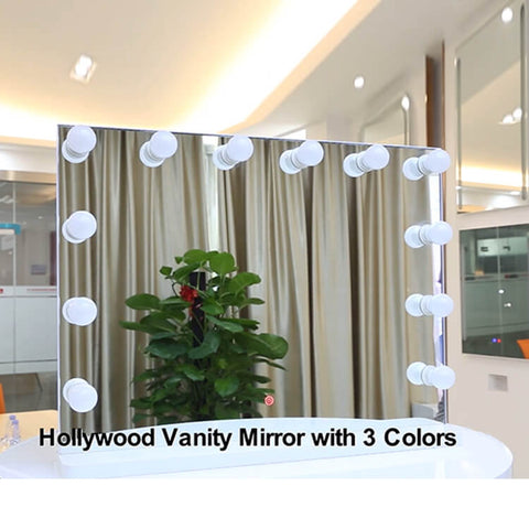Vanity Led Lighted Makeup Mirror With Light Bulb