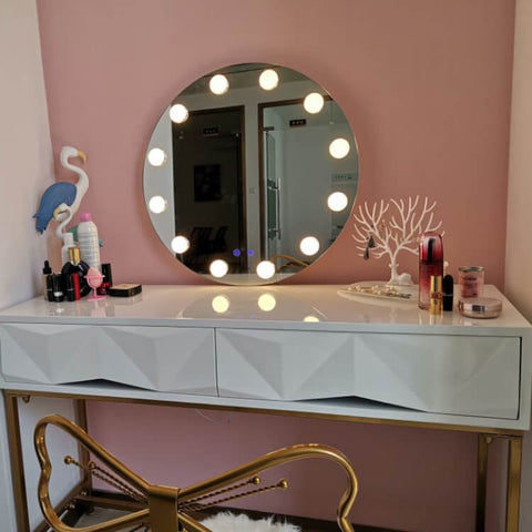Desktop Style  Illuminated Mirror