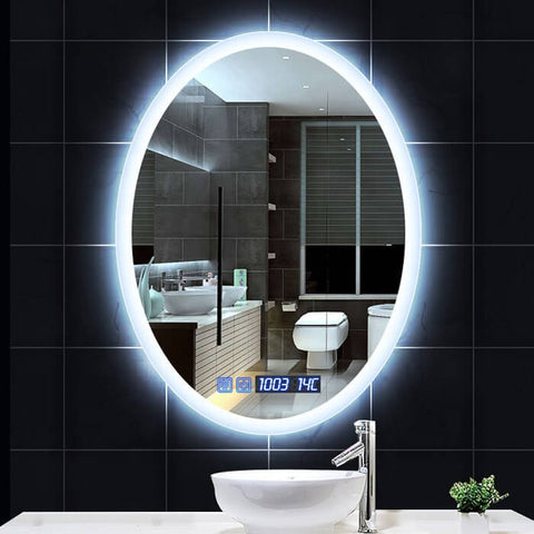 LED Lighted Bathroom Slivered Wall Mounted Makeup Mirror