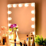 Led Double Color Hollywood Mirror with 15 Bulbs