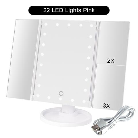 Touch Screen Makeup Mirror with 22 LED Light