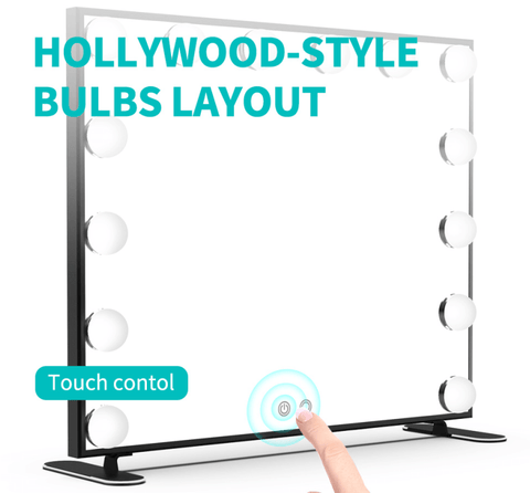 Touch Switch Luxury Hollywood Mirror with 14 Bulbs