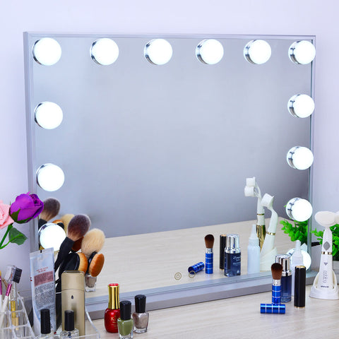 Detachable 10X Magnification Hollywood Mirror with 12 Bulbs