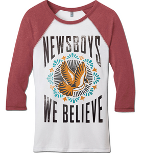 Newsboys Dove raglan