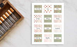 Printable Roller Bottle Labels - The Gloria Collection