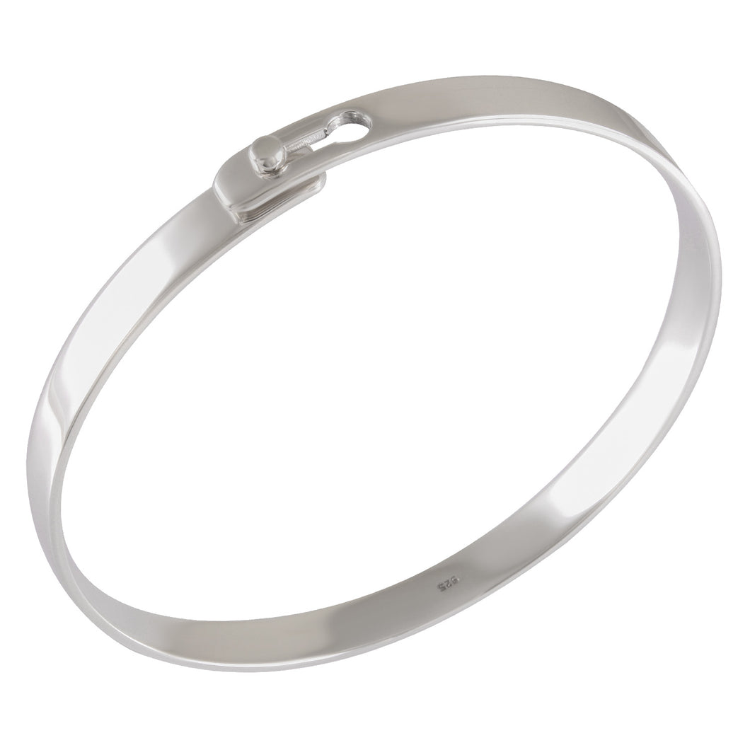 lock style bangle with high polish finishing in 925 sterling silver - SUVARNASILVERCO.,LTD