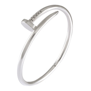 Nail Bangle with hinged in 925 sterling silver - SUVARNASILVERCO.,LTD