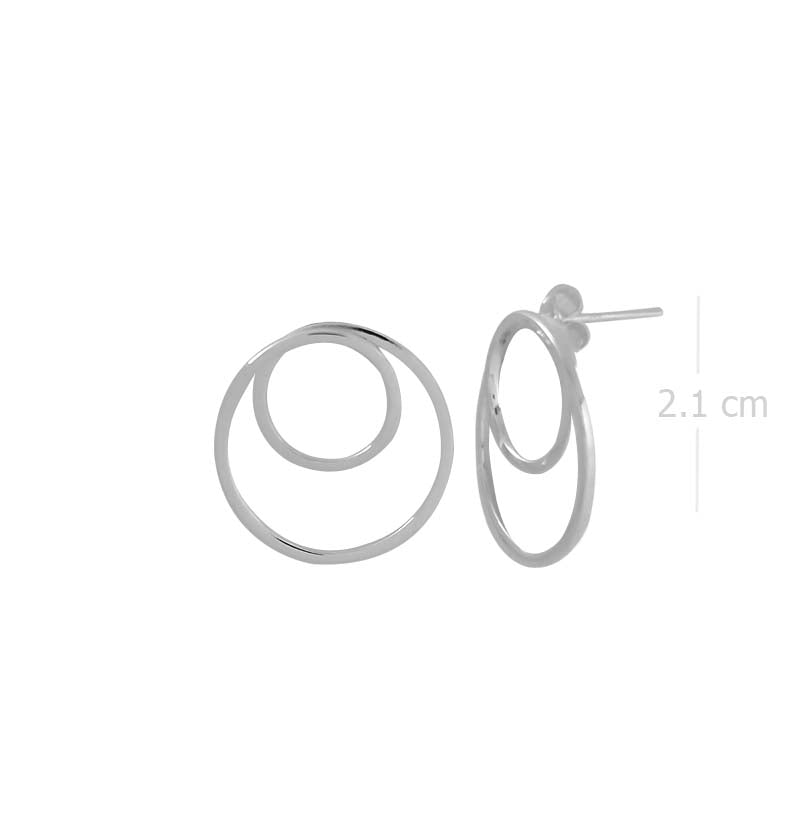spiral knot stud earring with high polish in 925 sterling silver - SUVARNASILVERCO.,LTD