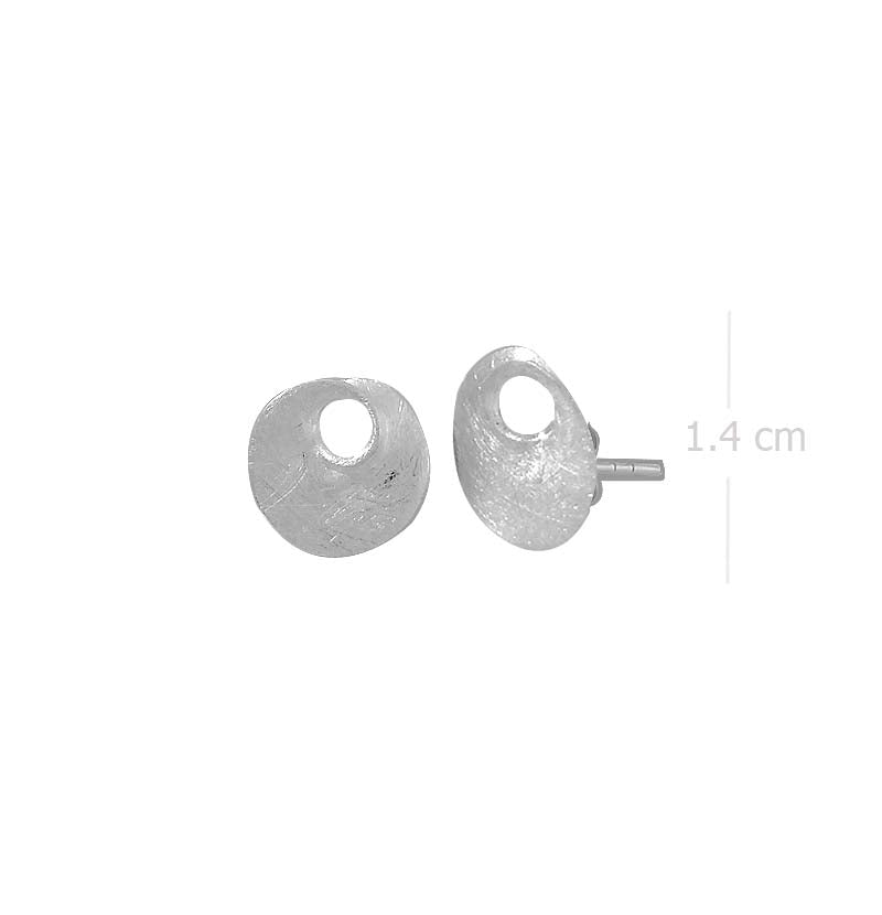 spiral post earring with sand brush finishing in 925 sterling silver - SUVARNASILVERCO.,LTD