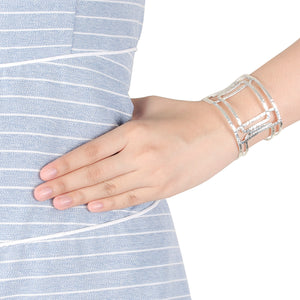 braided bangle with hummer style in 925 sterling silver - SUVARNASILVERCO.,LTD