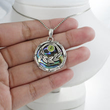 Load image into Gallery viewer, Bali Bamboo 925 sterling silver pendant with genuine gems stone and mother of shell - SUVARNASILVERCO.,LTD