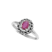 Load image into Gallery viewer, Filigree Ring Design 925 Sterling Silver Ring with Genuine Gems Stone - SUVARNASILVERCO.,LTD