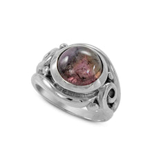 Load image into Gallery viewer, Spiral Cocktail Ring with genaral tourmaline set in 925 sterling silver, beautiful ring for women - SUVARNASILVERCO.,LTD