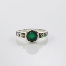 画像をギャラリービューアに読み込む, Design From The Sea 925 Sterling Silver Ring with Genuine Gems Stone and Abalone Shell - SUVARNASILVERCO.,LTD