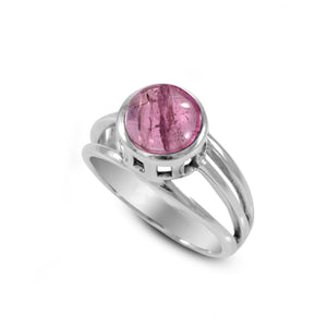 solitaire ring with genuine tourmaline set in 925 sterling silver, beautiful ring for women - SUVARNASILVERCO.,LTD