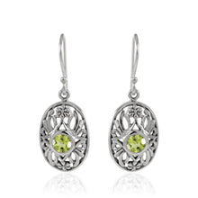 Load image into Gallery viewer, Flowers Garden Earring with Genuine Gems Stone set in 925 Sterling Silver
