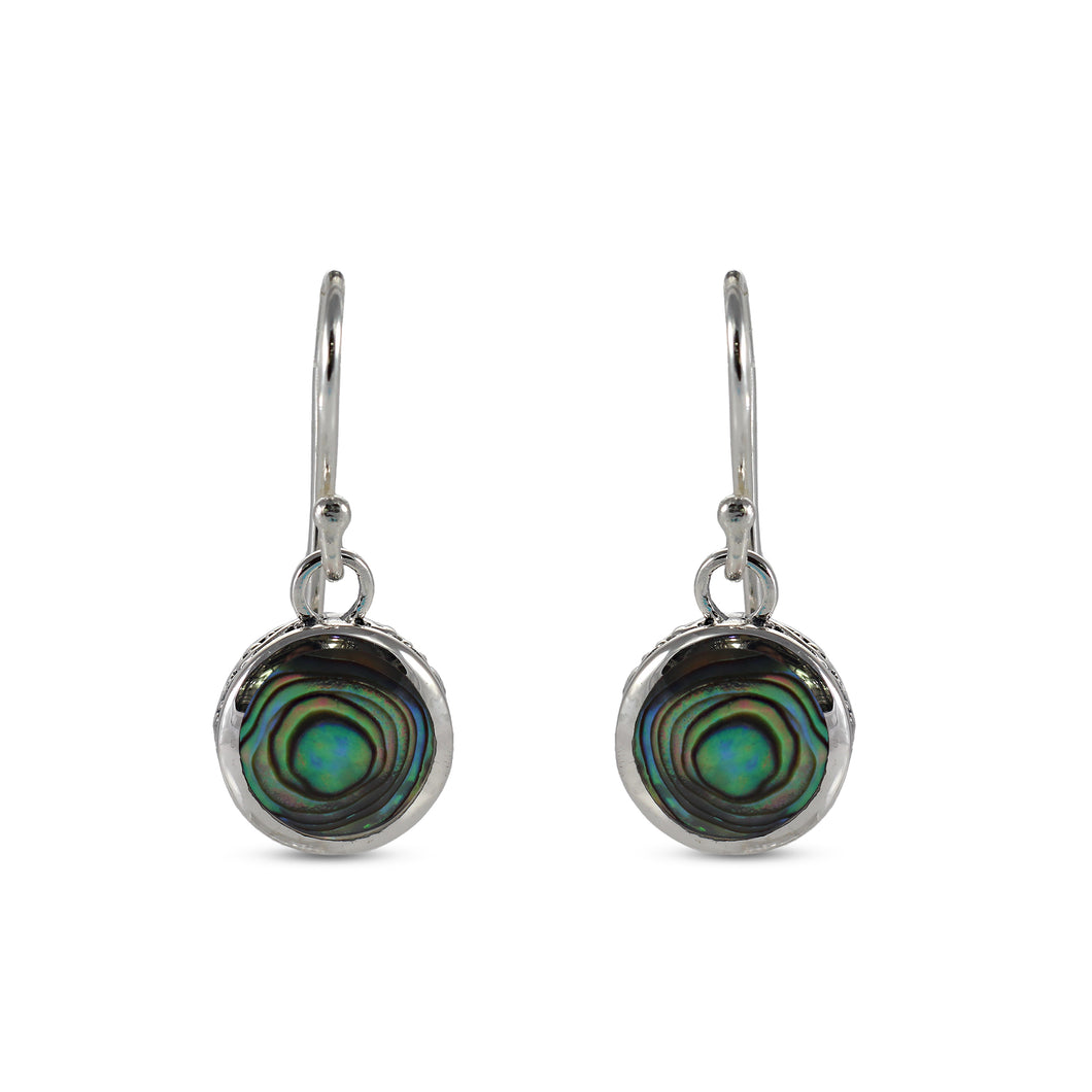 925 Sterling Silver Earring with Color Shell