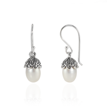 Load image into Gallery viewer, 925 Sterling Silver Earring with Fresh Water Pearl