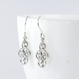 Patra Design 925 Sterling Plain Silver Earring