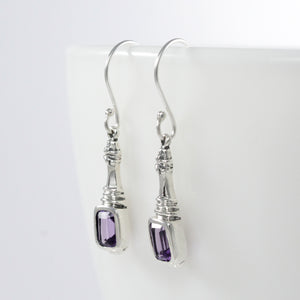 Life Inspired 925 Sterling Silver Earring with Genuine Gems Stone