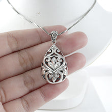 Load image into Gallery viewer, Filigree design pendant set in 925 Sterling silver pendant, beautiful pendant for woman - SUVARNASILVERCO.,LTD