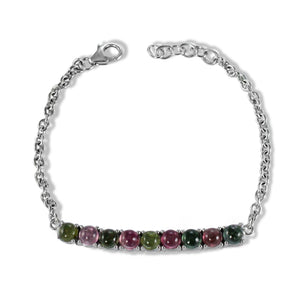 AAA quality gems stones bracelet with 925 sterling silver and rhodium finishing - SUVARNASILVERCO.,LTD