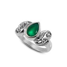 画像をギャラリービューアに読み込む, Filigree Bali design with natural peridot ring set in 925 sterling silver - SUVARNASILVERCO.,LTD