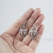 Load image into Gallery viewer, Thai Design Earring 925 Sterling Silver with Cubic Zirconia