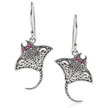 Load image into Gallery viewer, Stingray Earring Design set in 925 Sterling Silver with Cubic Circonia