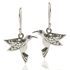 Flying Bird Filigree Bali Design set in 925 Sterling Silver and Cubic Circonia
