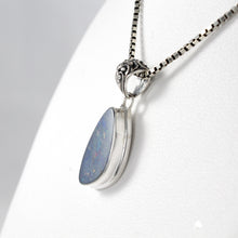 Load image into Gallery viewer, AAA fire doublet opal set in 925 sterling silver pendant, beautiful pendant for women
