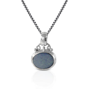 AAA fire doublet opal set in 925 sterling silver pendant, beautiful pendant for women - SUVARNASILVERCO.,LTD