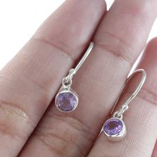 Load image into Gallery viewer, Natural amethyst set in 925 Sterling silver dangle drop earrings, beautiful earring for woman - SUVARNASILVERCO.,LTD
