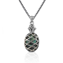 Load image into Gallery viewer, Pineapple pendant with natural abalone set in Bali handmade 925 sterling silver, beautiful pendant for women - SUVARNASILVERCO.,LTD