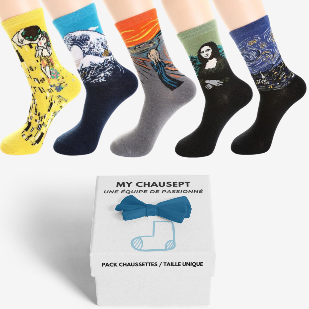 "PACK X5 CHAUSSETTES ""ART"" - 1"