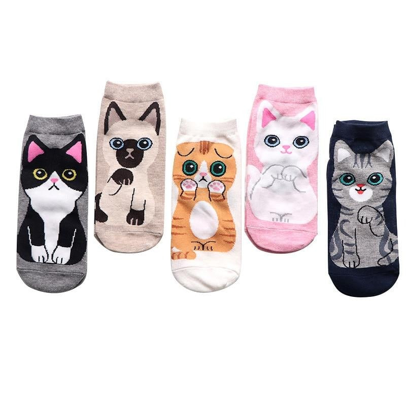 "Pack x5 Socquette ""The Cats"""